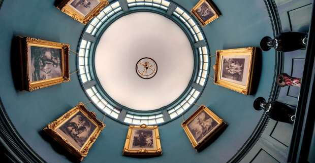 The works have returned the drama to the central rotunda of the main corridor.  Photo copyright (c) English Heritage